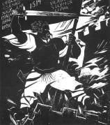 Derkovits Gyula - gravure sur bois : Doja sur le mur, 1928