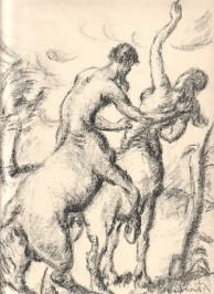 Derkovits Gyula - combat de Centaures, date inconnue