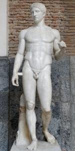 le Doryphore de Pompéi - copie d'une sculpture de Polyclète