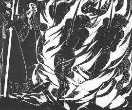 Derkovits Gyula - Dozsa-sorozat VIII. Maglyak, 1928