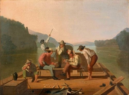 George Caleb Bingham - Depicting raftsmen playing cards, date inconnue