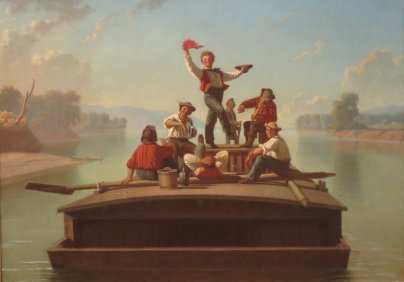 George Caleb Bingham – The Jolly Flatboatman, 1877-78