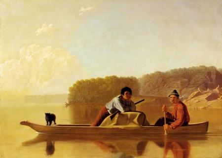 George Caleb Bingham - le retour des chasseurs de fourrures, 1851