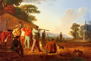George Caleb Bingham - Shooting for the Beef, date inconnue