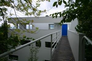 Meier - Douglas House - passerelle d'accès au dernier niveau