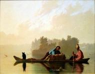 George Caleb Bingham - Chasseurs de fourrures descendant le Missouri, 1845