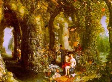 Jan Bruegel l'Ancien - Ulysse et Calypso, 1616