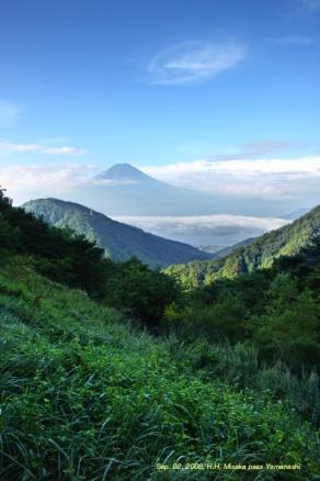 le Fuji vu du col de Misaka