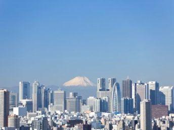 le mont Fuji vue de Tokyo