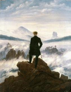 Caspar David Friedrich, Homme au dessus des nuages