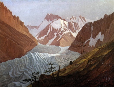 Carl Gustav Carus - La Mer de glace à Chamonix, 1827