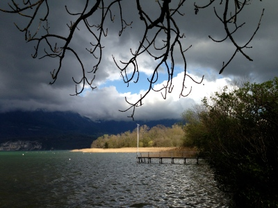 Lac d'Annecy, le Piron - mardi 8 avril 2014, vers 17 h 30 - IMG_2474