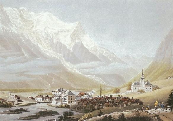 Jean Dubois - Le mont-Blanc vu de Chamouni