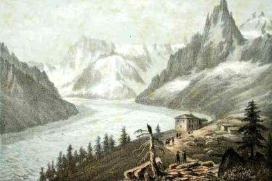 la mer de Glace et le Montanvers