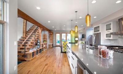 Schield House à Denver : séjour au rez-de-chaussée
