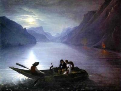 Le Prince - Julie et Saint-Preux sur le lac Léman, 1824
