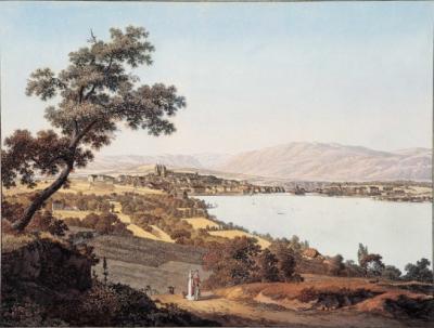 Jean-Antoine Linck - Vue de Genève depuis Cologny