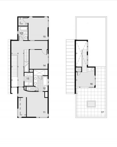 Schield House à Denver - atelier H:T architects : plans