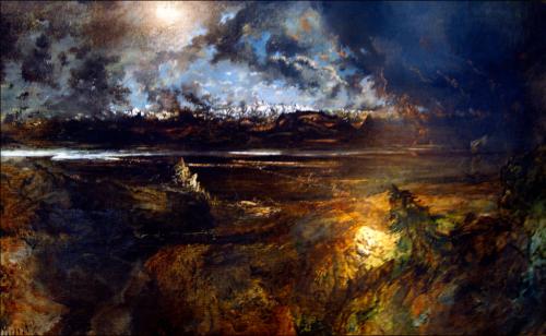 Théodore Rousseau - Orage sur le Mont-Blanc, commencé en 1834, terminé entre 1863 et 1867