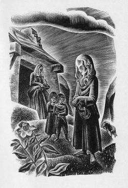 Lynd Ward - Frankenstein : Elisabeth enfant, 1934