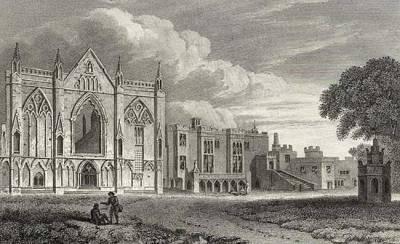 la façade Ouest de Newstead-Abbey, 1813