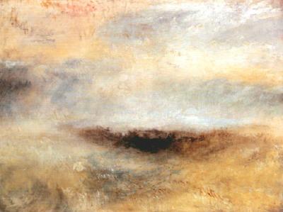 Joseph Mallord William Turner - Morceau de mer avec orage surgissant