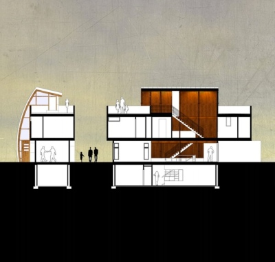 Schield House à Denver : coupes