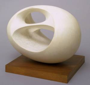 Oval Sculpture (No. 2) 1943, cast 1958 by Dame Barbara Hepworth 1903-1975
