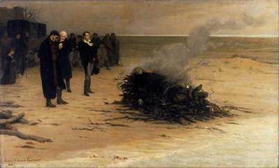 Louis Edouard Fournier - les funérailles de Shelley, 1889