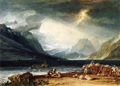 William Turner - Orage sur le lac de Thun en Suisse