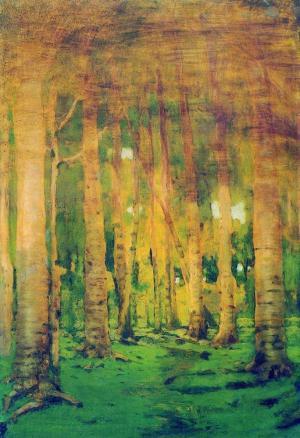 Arkhip Kuindzhi - le bosquet de bouleaux illuminé par le soleil, 1895