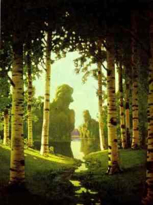 Arkhip Kuindzhi - le bosquet de bouleaux, 1901