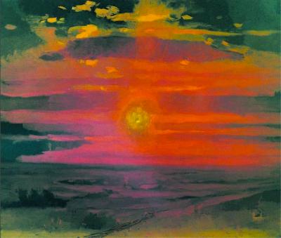 Arkhip Kuindzhi - Coucher de soleil en mer, vers 1890