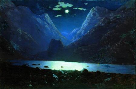 Arkhip Kuindzhi - Clair de Lune sur le Daryal pass, vers 1895