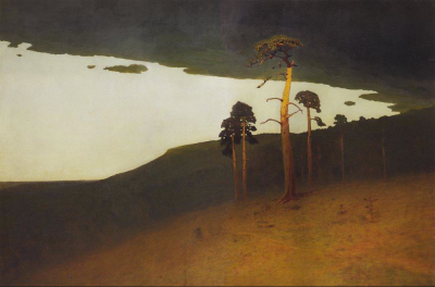 Arkhip Kuindzhi - paysage de Crimée, vers 1905