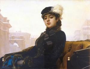 Ivan Kramskoi - l'inconnue, 1883