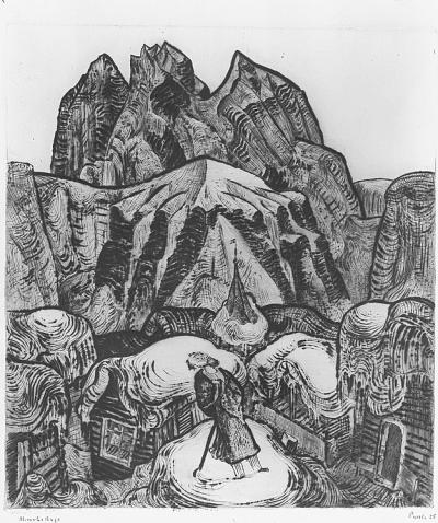 Pauli Fritz Eduard - Mensch und Berge, 1925