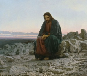 Arkhip Kuindzhi - le Christ dans le désert, 1872