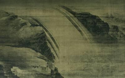 Wang_Wei_-_Cascade, VIIe siècle ?-1