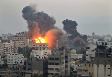 Bombardement à Gaza