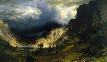 Albert Bierstadt - A Storm in the Rocky Mountains, Mt. Rosalie, 1866 - Google Art
