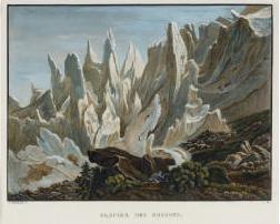 Samuel Birmann (suisse, 1793-1847)  - Glacier des Bossons, 1826