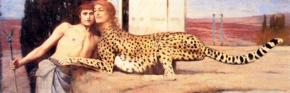 Fernand Khnopff (1858-1921) -  la caresse du Sphinx,  1896