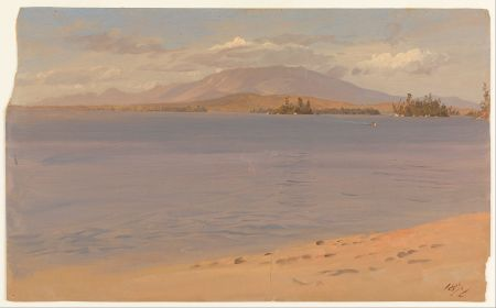 Frederic Edwin Church - Mount Katahdin from Lake Millinocket, 1878 - Google Art Project
