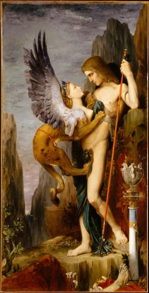 Gustave Moreau (1826-1898) - Œdipe et le Sphinx, 1864
