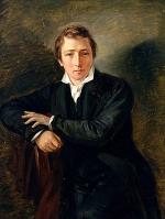 Heinrich Heine (1797-1856) peint par Moritz Daniel