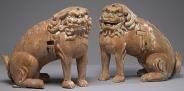 Japan Edo period (1615-1868) Korean Lion Dogs (Koma-inu) début 17e