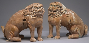 Japan Edo period (1615-1868) Korean Lion Dogs (Koma-inu) début 17e