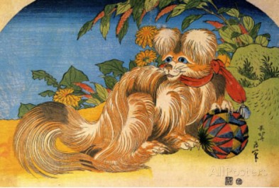 katsushika-hokusai-tschin-the-pet-dog-art-poster-print-1