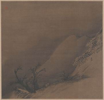 Liang Kai  - surfant sur la route enneigée, (13e siècle)